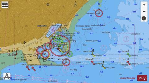 Sea Chart App - C ramsgate marine chart 1827 3 nautical charts app